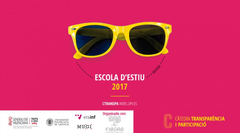 Últimas plazas para asistir a las jornadas y talleres del II Curso de verano en la UPV: Transparencia a través de los datos