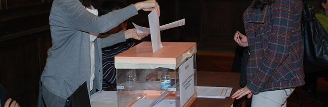Elecciones al Claustro, Centros, Departamentos, e Institutos Universitarios de Investigación