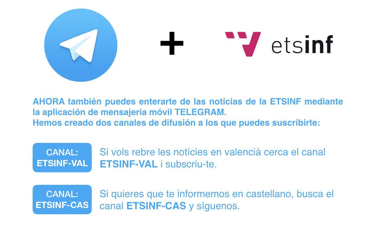 Nous Canals Telegram de la ETSINF