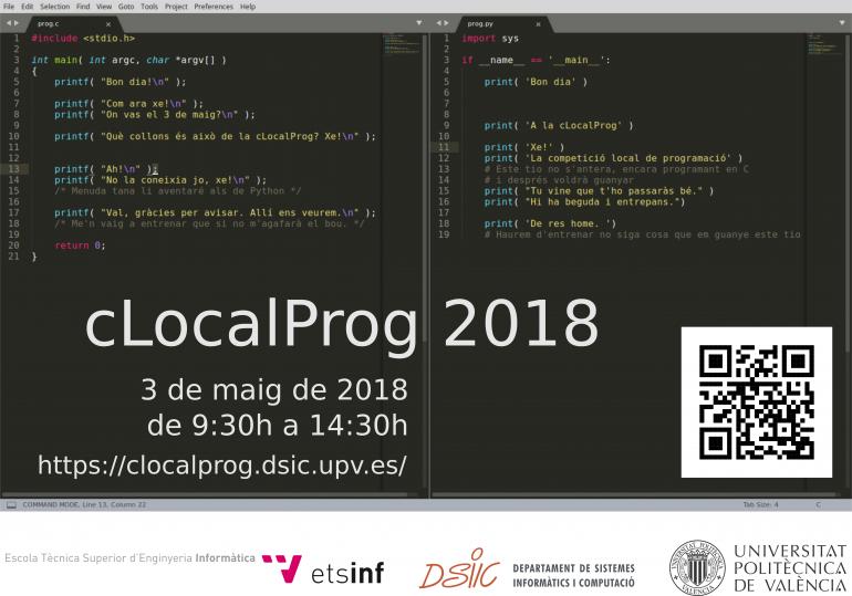 Abierta la inscripción a la XIII Competición Local de Programación