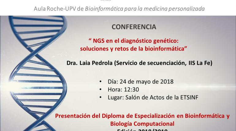 (Español) Anuncio de conferencia Aula Roche-UPV en torno a bíoinformática