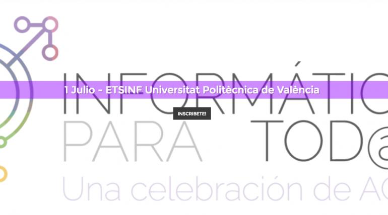 Abierta inscripción: Jornada «Informática para tod@s» de #ACM-W