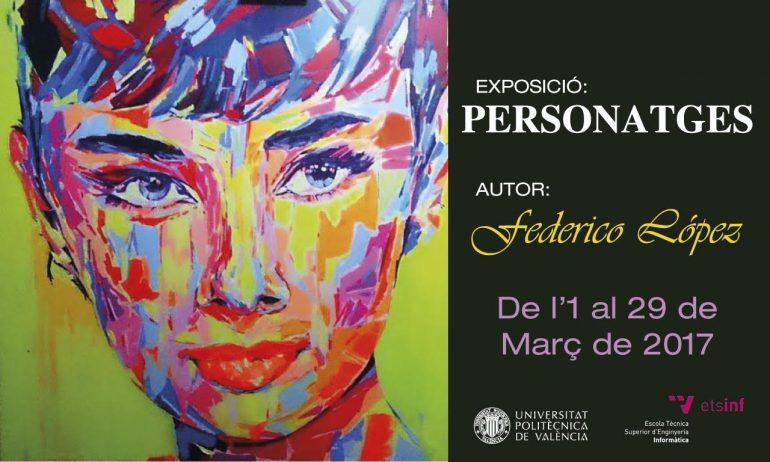 """Espai.inf acoge """"Personatges"""" de Federico López hasta el 29 de marzo"""