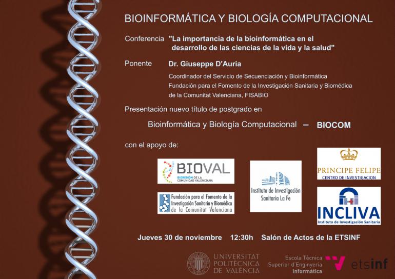 Presentación de BIOCOM el nuevo título en Bioinformática y Biología Computacional