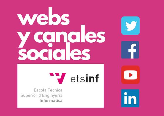 Webs y canales sociales de la ETSINF