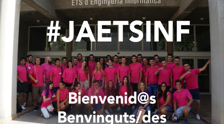 #JAEtsinf Jornadas de acogida 2018 a nuevo alumnado a partir del 3 de septiembre en ETSINF