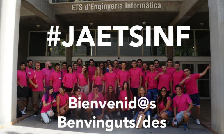 (Español) #JAEtsinf Jornadas de acogida 2018 a nuevo alumnado a partir del 3 de septiembre en ETSINF