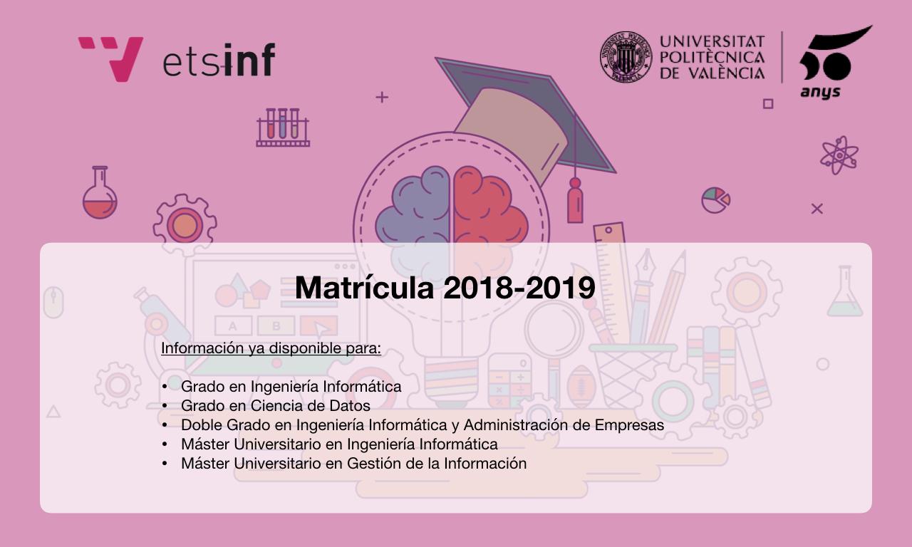 Matrícula 2018-2019