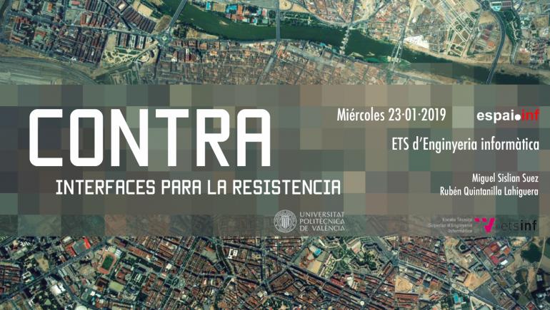 Exposició CONTRA: Interfícies per a la resistència en espai.inf
