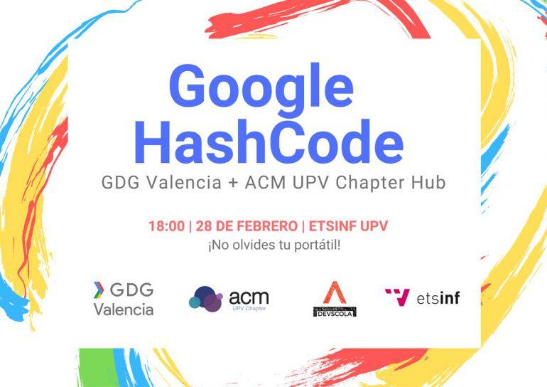ETSINF acoge un Hub de Google Hash Code 2019 organizado por GDG, Devscola y ACM  UPV