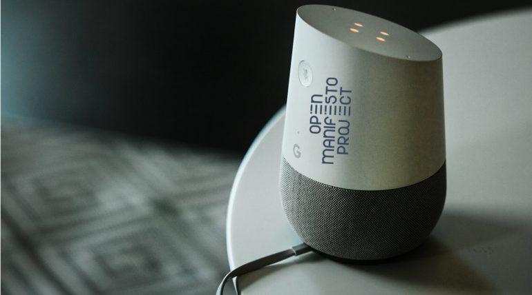 La iniciativa Open Manifesto Project incorpora Google Home a la comunicación política