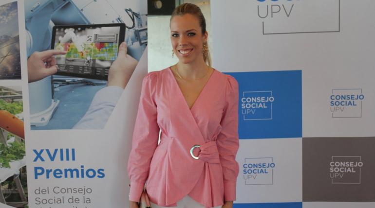 Lucía Pons premio 2019 al mejor estudiante de ETSINF por el Consejo Social de UPV