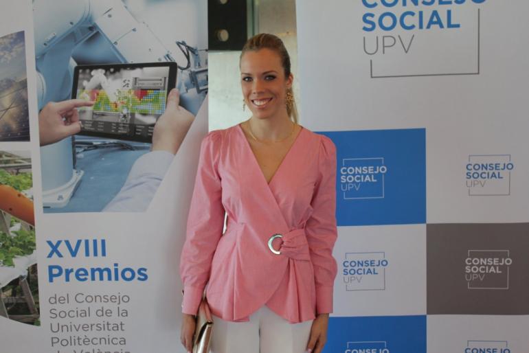 Lucía Pons premi 2019 al millor estudiant de ETSINF pel Consell Social d'UPV