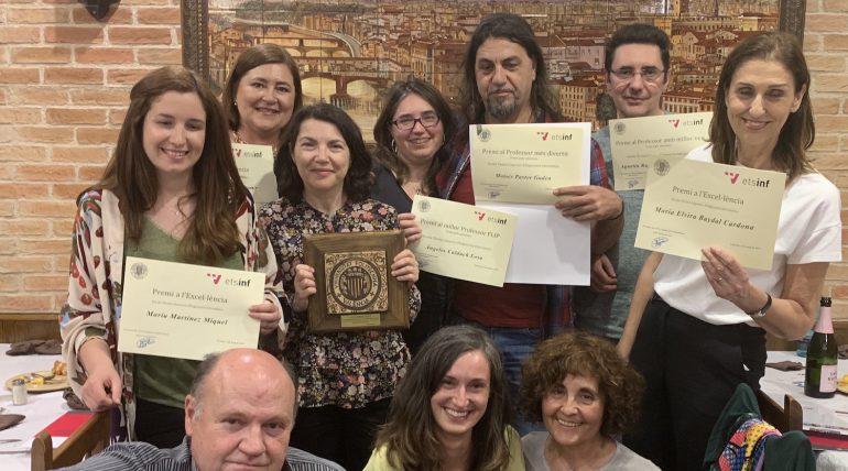 Premios a la excelencia docente y Premios DAETSINF en la celebración de Santa Tecla