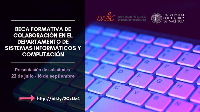 Beca Formativa de Colaboración 2019/2020 en el Departamento de Sistemas Informáticos y Computación (CÓDIGO 19/0013)