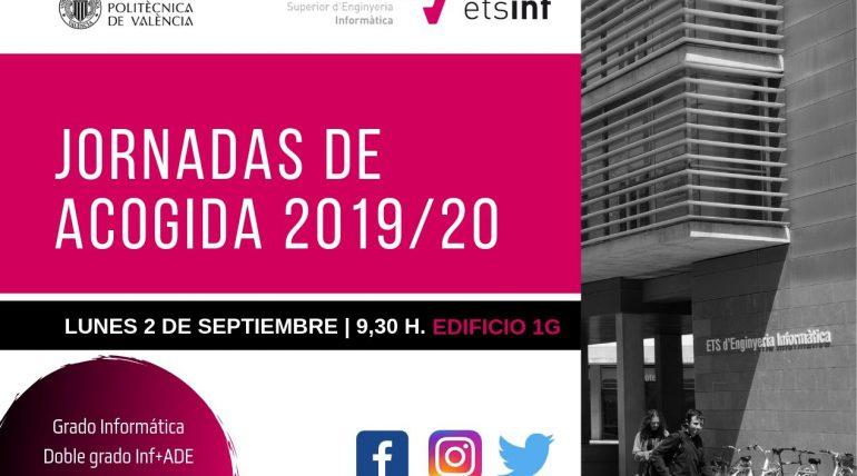 (Español) #JAEtsinf Jornadas de acogida 2019 a nuevo alumnado 2 de septiembre en ETSINF