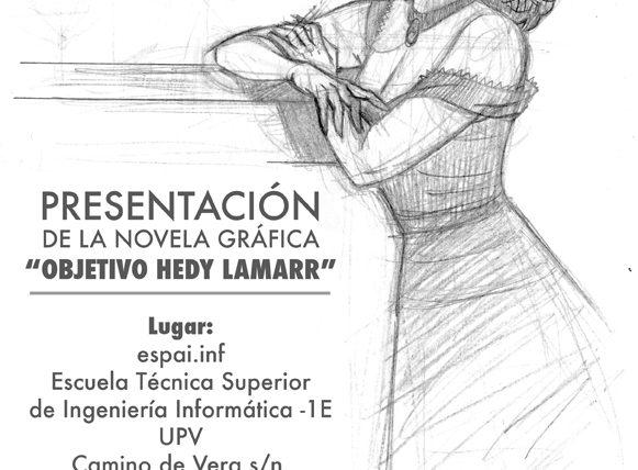 Ángel Muñoz presenta en Espai.inf su novela gráfica sobre Hedy Lamarr