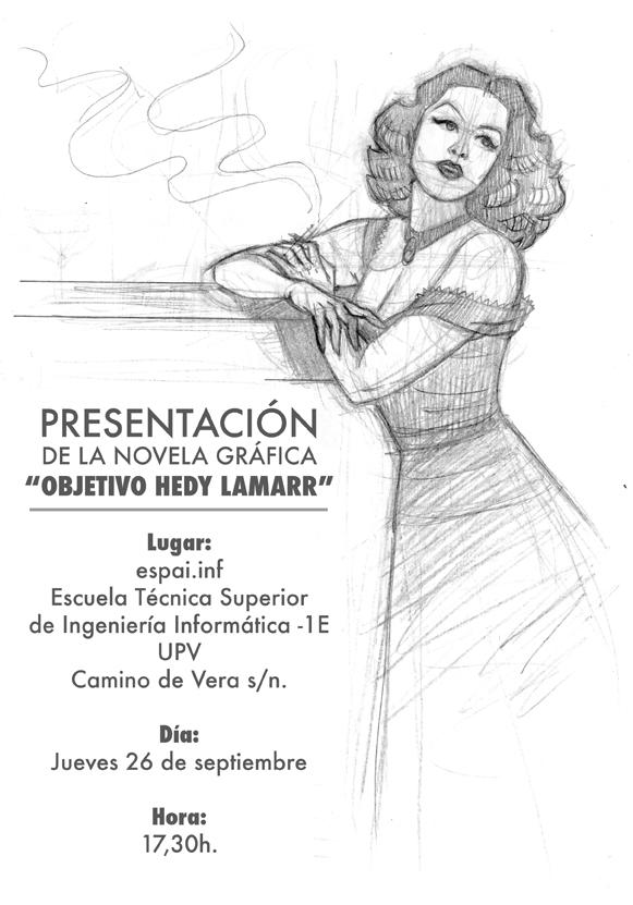 (Español) Ángel Muñoz presenta en Espai.inf su novela gráfica sobre Hedy Lamarr