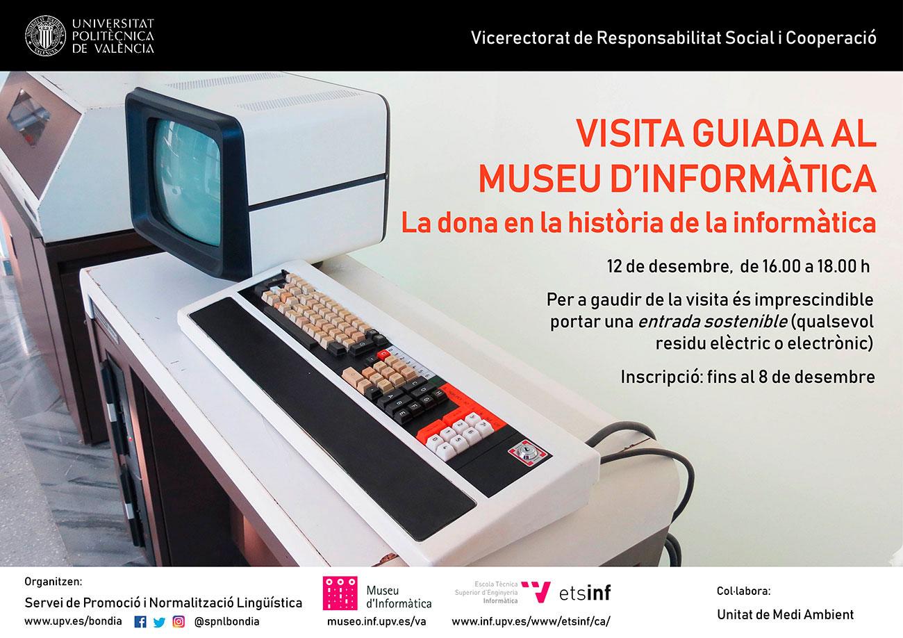 Cartel visita al Museo de Informática
