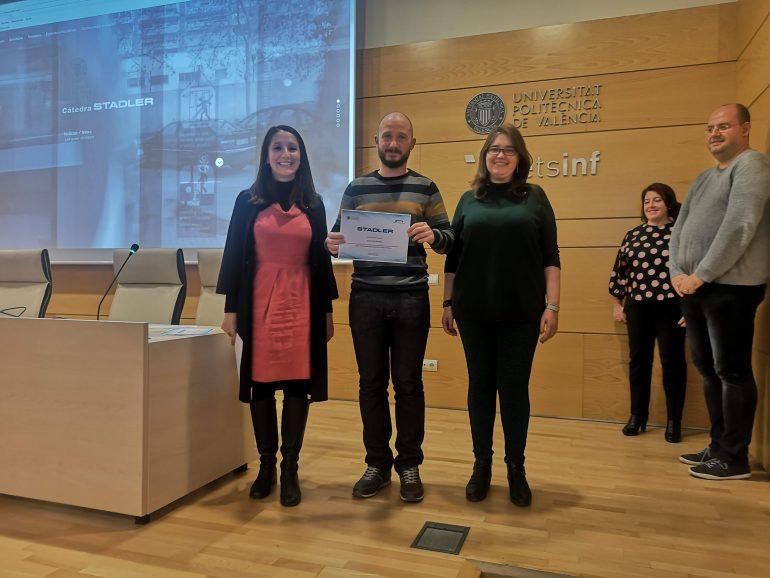 Entrega de los Premios de la Cátedra Stadler a mejores proyectos monográficos