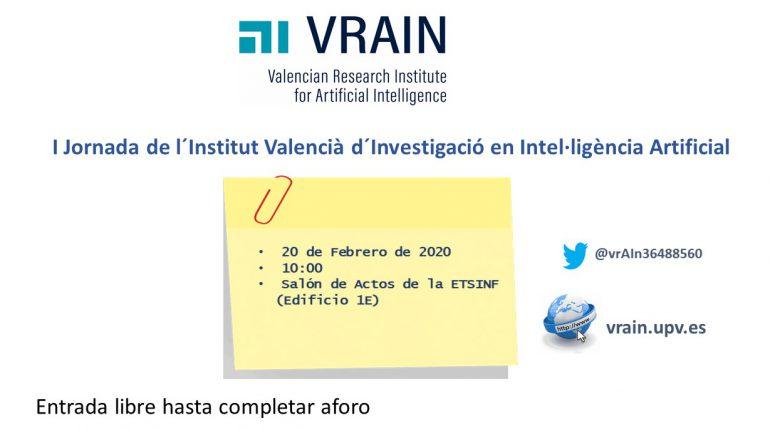 (Español) Jornada de VRAIN sobre proyectos de inteligencia artificial en ETSINF