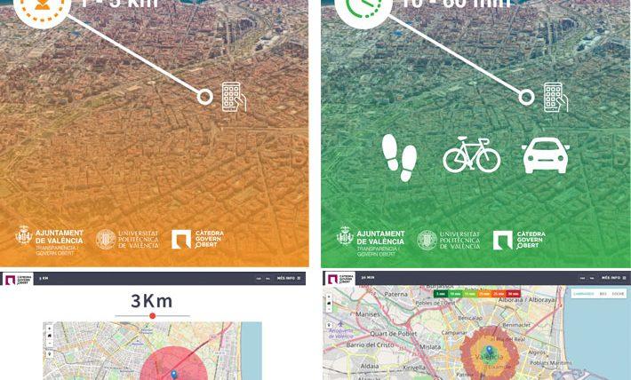 Dos aplicaciones desarrolladas por la Càtedra Govern Obert  permiten planificar recorridos de 1 a 5 kilómetros y de 10 a 60 minutos durante la desescalada