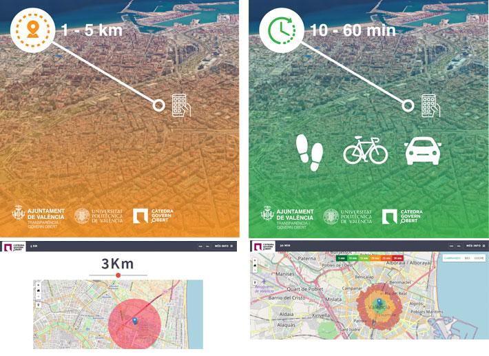 (Español) Dos aplicaciones desarrolladas por la Càtedra Govern Obert  permiten planificar recorridos de 1 a 5 kilómetros y de 10 a 60 minutos durante la desescalada