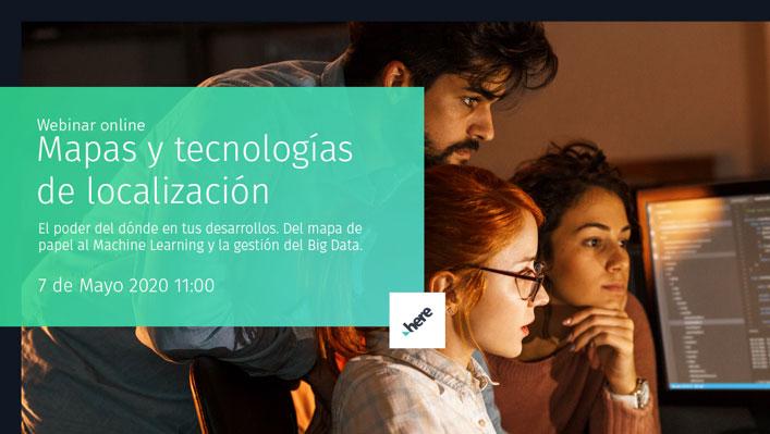 """(Español) Balance y vídeo del webinar """"Mapas y tecnologías de localización"""" con Here"""