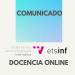 (Español) Comunicado sobre docencia en 1ª semana 14-20 septiembre