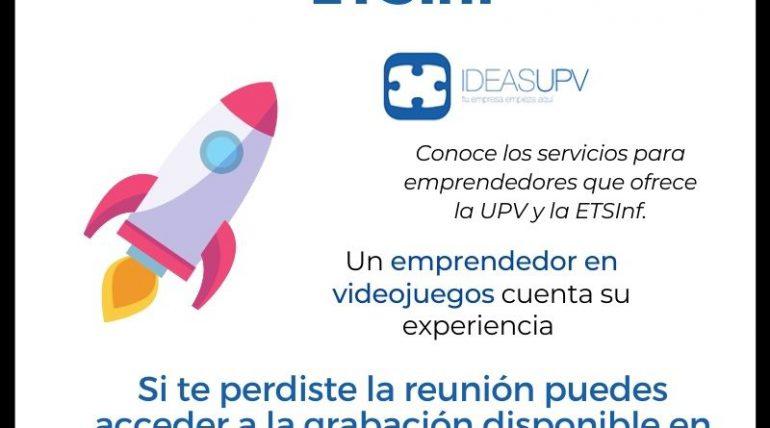 Accedeix a l'enregistrament del Day Emprén de la ETSInf que es va celebrar el passat 16 de novembre