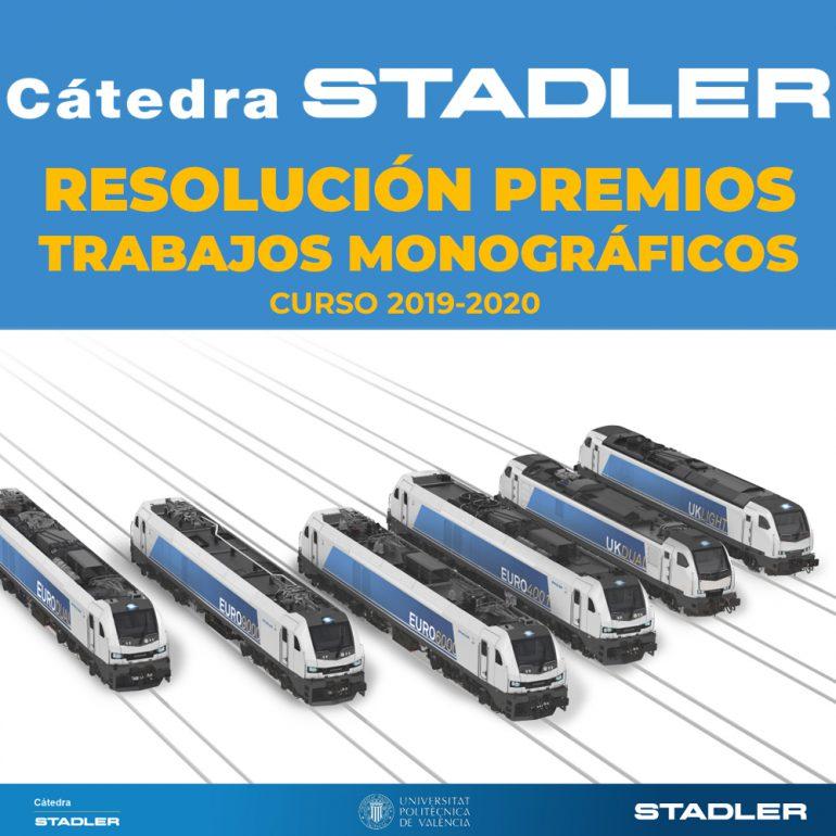 La Càtedra Stadler resol els premis als millors Treballs de Fi de Grau i Màster del curs 2019-2020