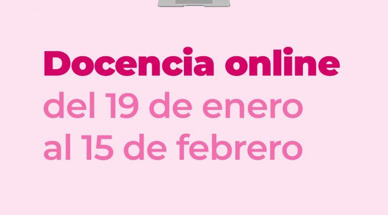 (Español) Docencia online desde el 19 de enero hasta el 15 de febrero