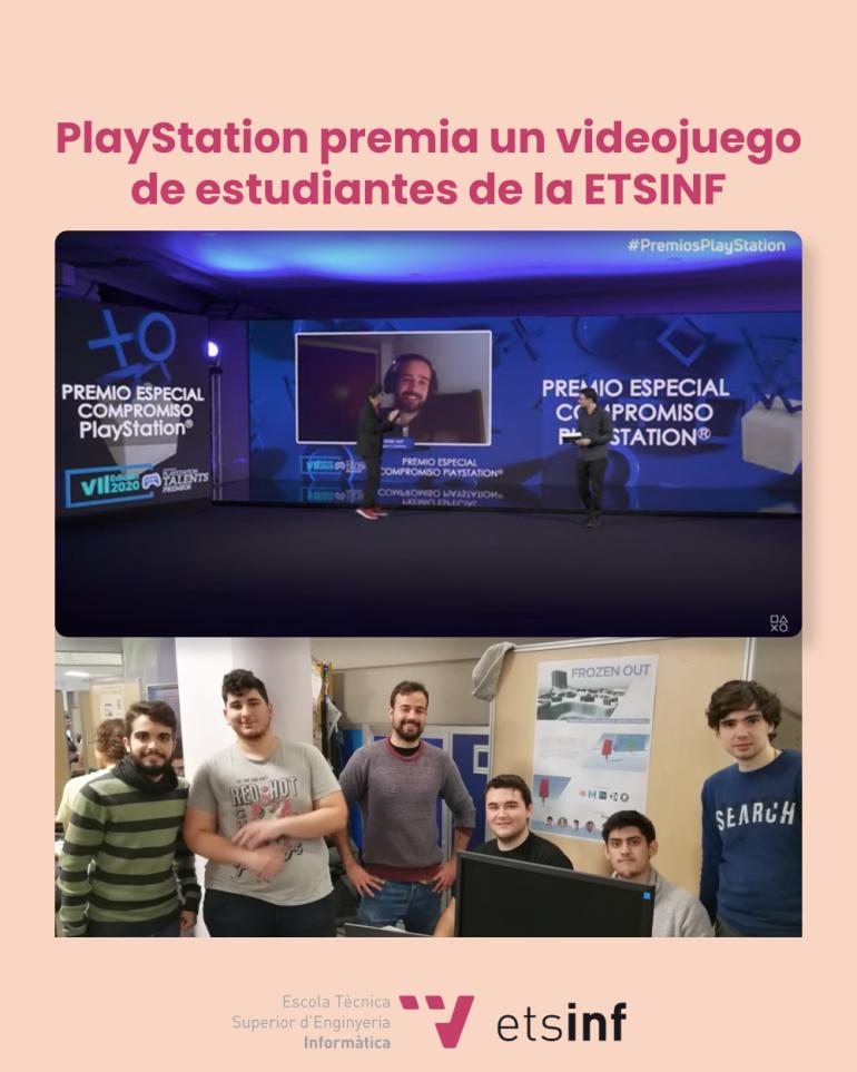 Premio Especial Compromiso PlayStation para el videojuego Frozen Out creado por estudiantes de la ETSInf y la Facultat de BB.AA: