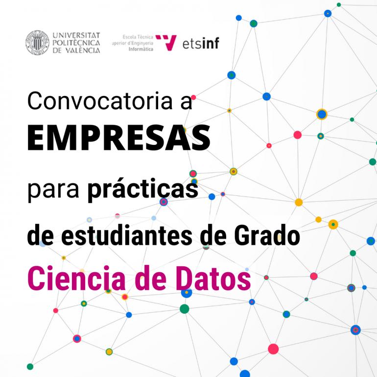 (Español) Convocatoria a empresas para estancias de prácticas de estudiantes de Grado en Ciencia de Datos