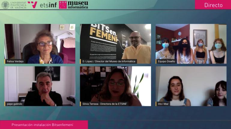 Presentación de la instalación Bits en Femení con Felisa Verdejo