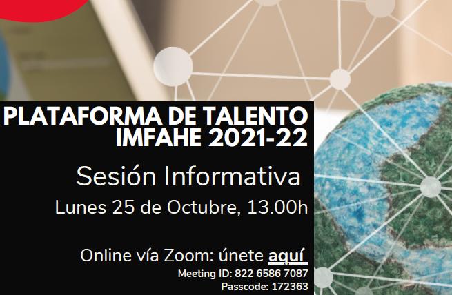 (Español) Abierta hasta el 2 de noviembre la convocatoria talento IMFAHE con becas en Harvard o MIT